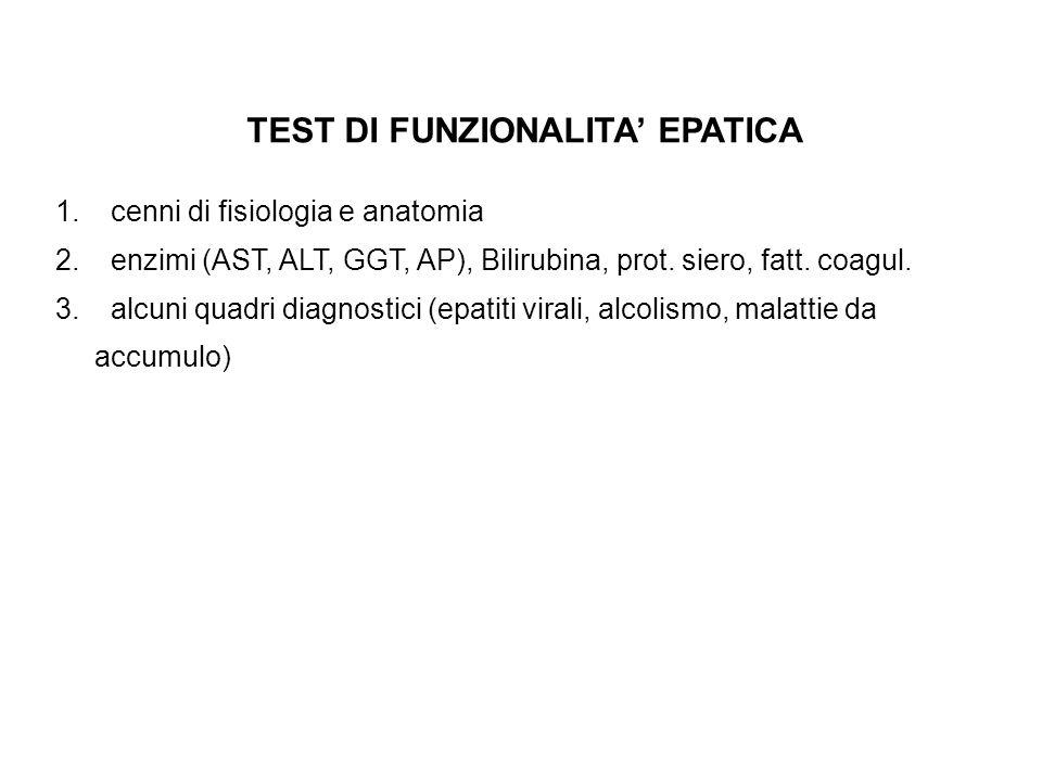 TEST DI FUNZIONALITA' EPATICA