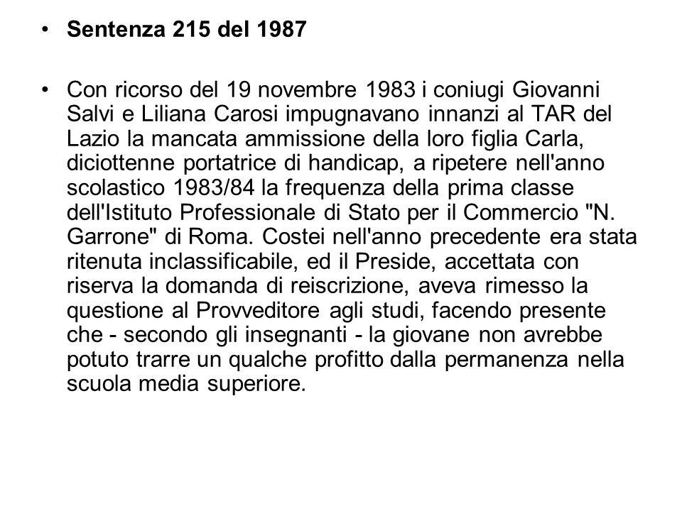 Sentenza 215 del 1987