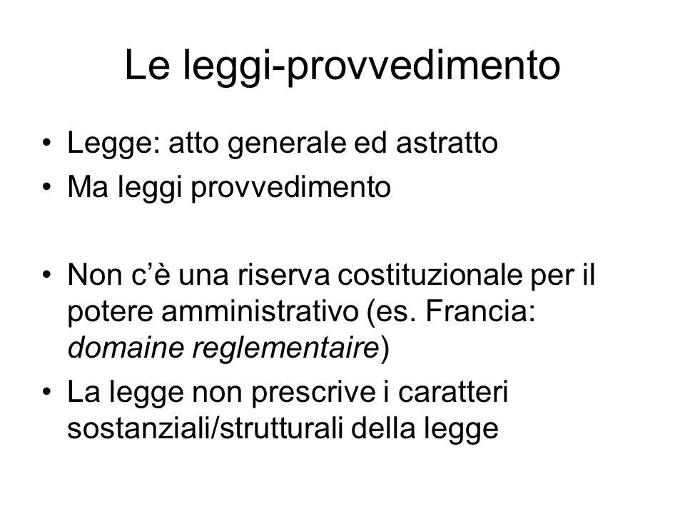 Le leggi-provvedimento
