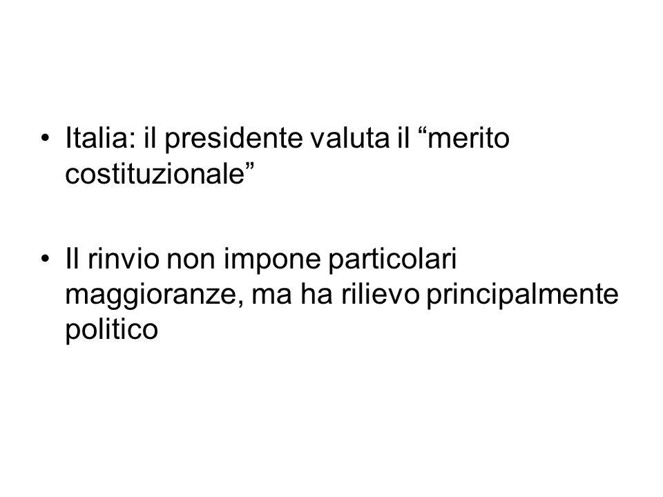 Italia: il presidente valuta il merito costituzionale