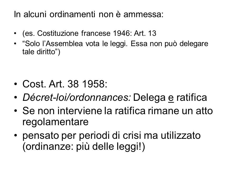 Décret-loi/ordonnances: Delega e ratifica