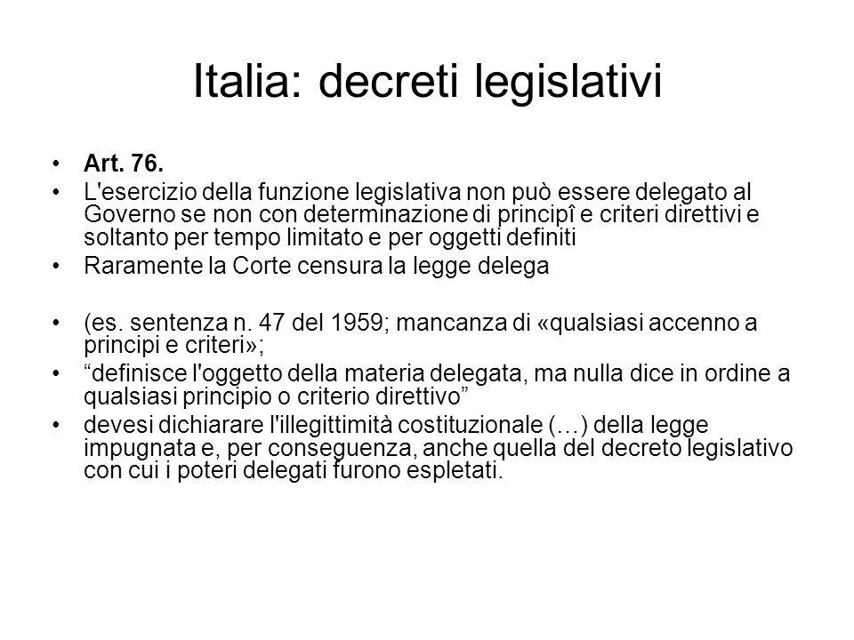Italia: decreti legislativi
