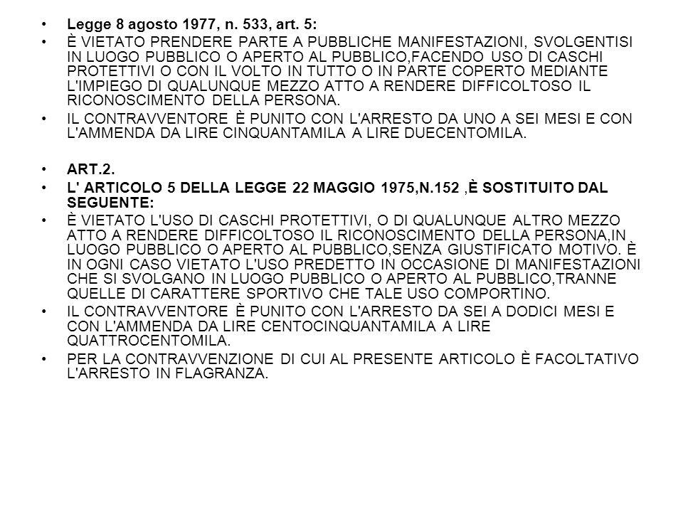 Legge 8 agosto 1977, n. 533, art. 5: