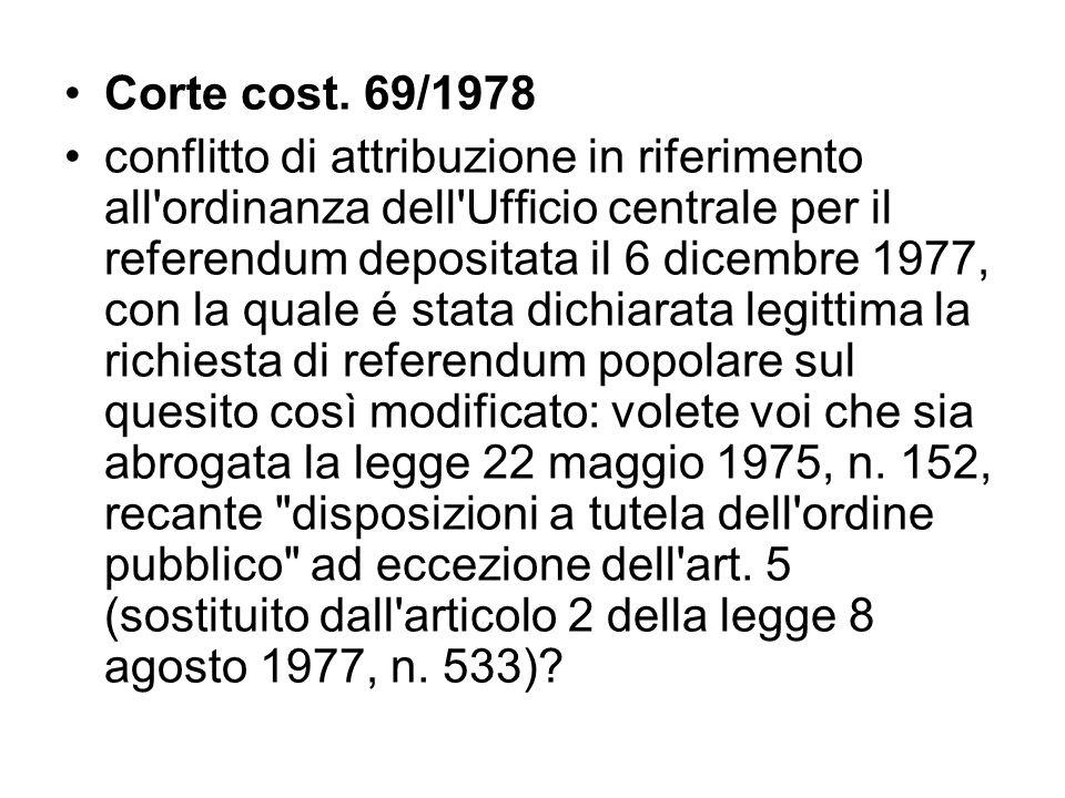 Corte cost. 69/1978