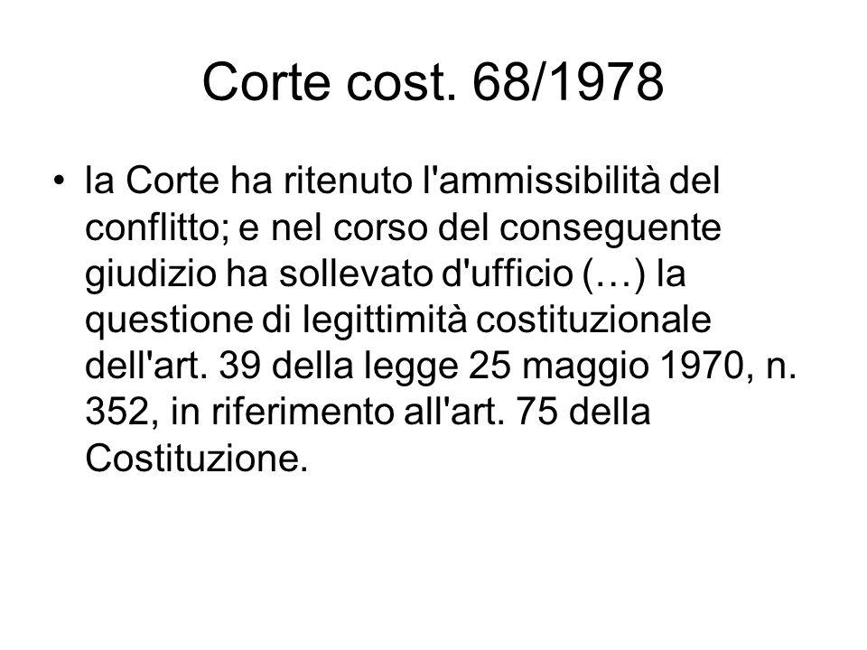 Corte cost. 68/1978