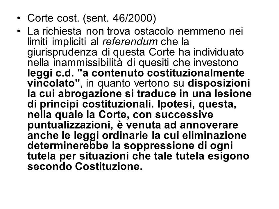 Corte cost. (sent. 46/2000)