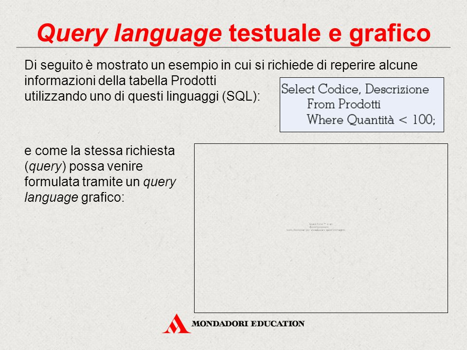 Query language testuale e grafico