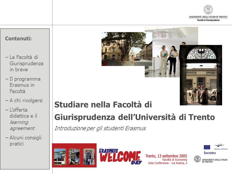 Studiare nella Facoltà di Giurisprudenza dell'Università di Trento