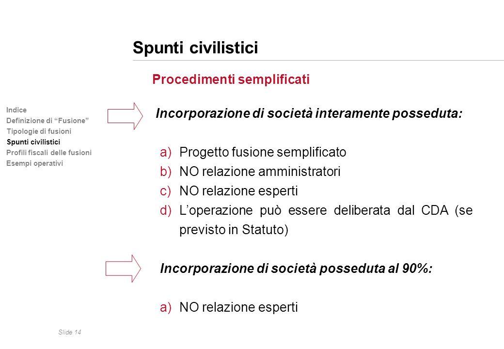 Spunti civilistici Procedimenti semplificati