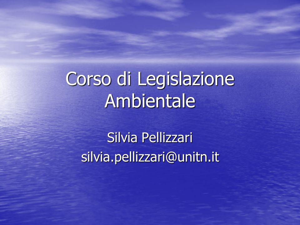 Corso di Legislazione Ambientale