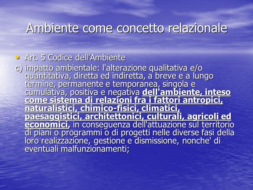 Ambiente come concetto relazionale