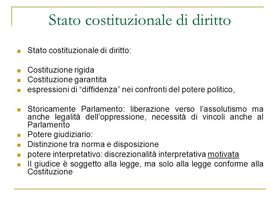 Stato costituzionale di diritto