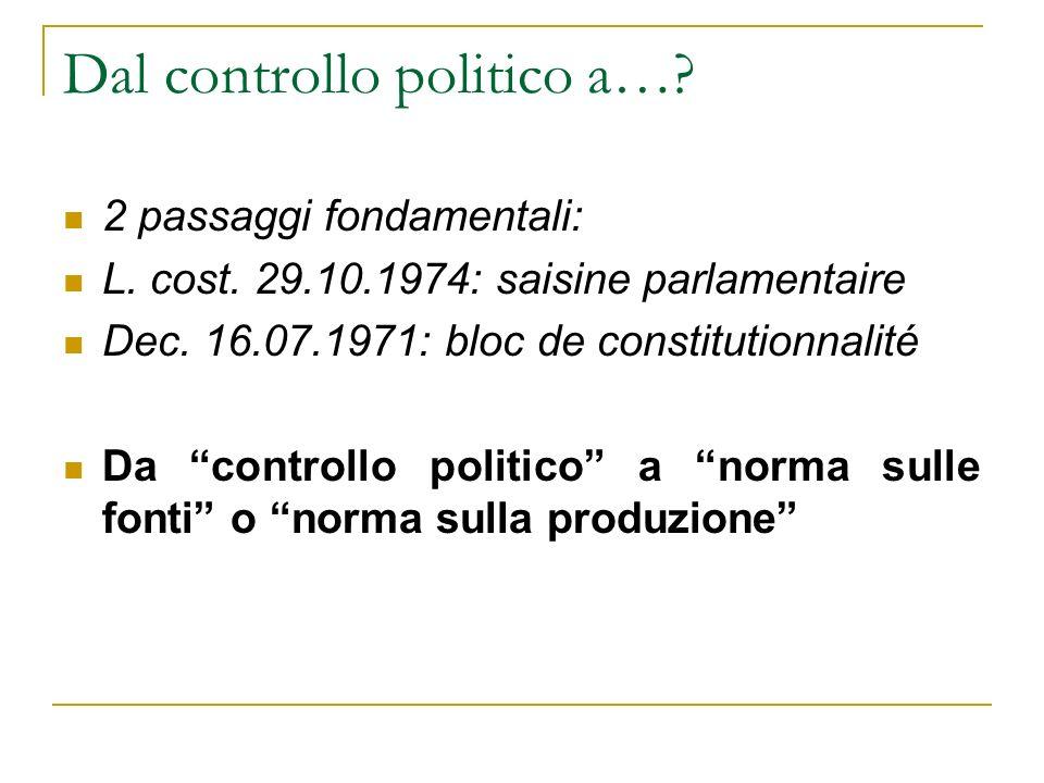 Dal controllo politico a…