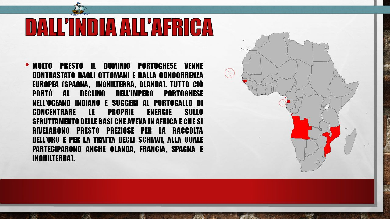 Dall'india all'africa