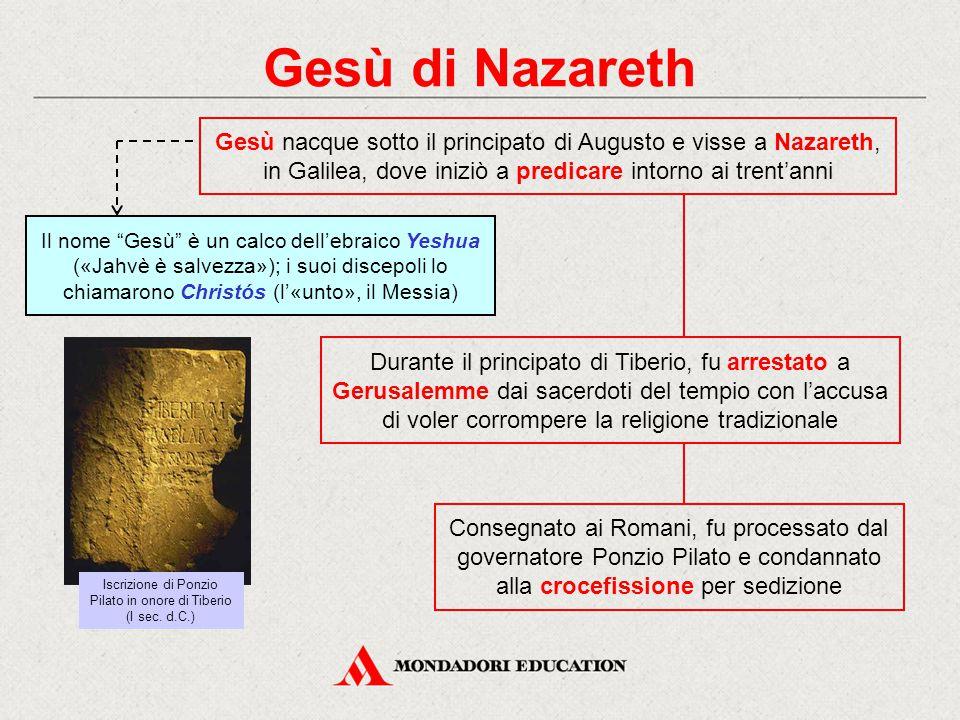 Iscrizione di Ponzio Pilato in onore di Tiberio (I sec. d.C.)