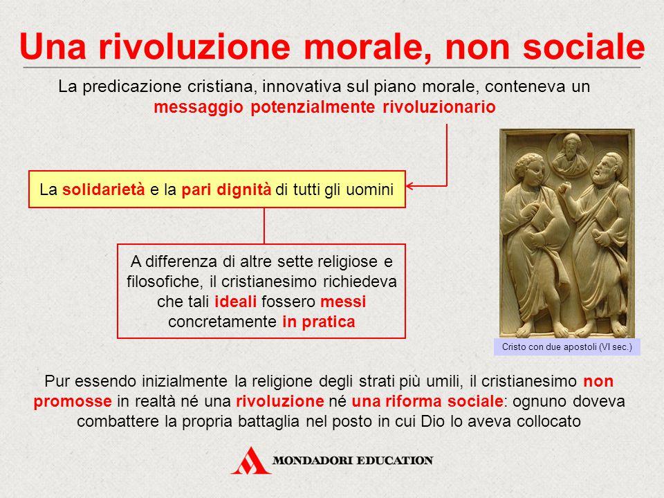 Una rivoluzione morale, non sociale