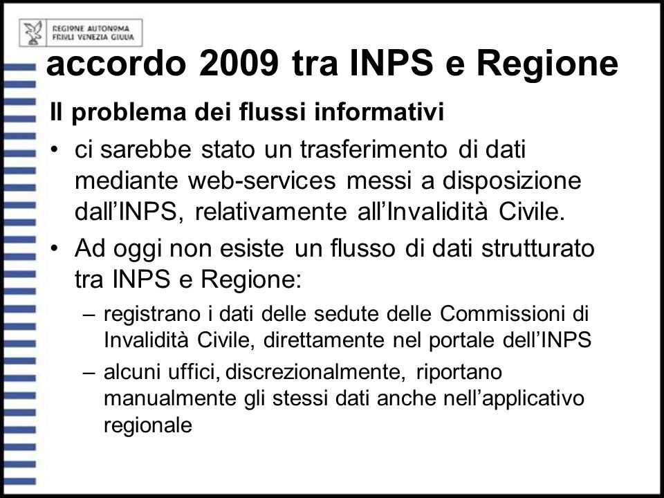 accordo 2009 tra INPS e Regione