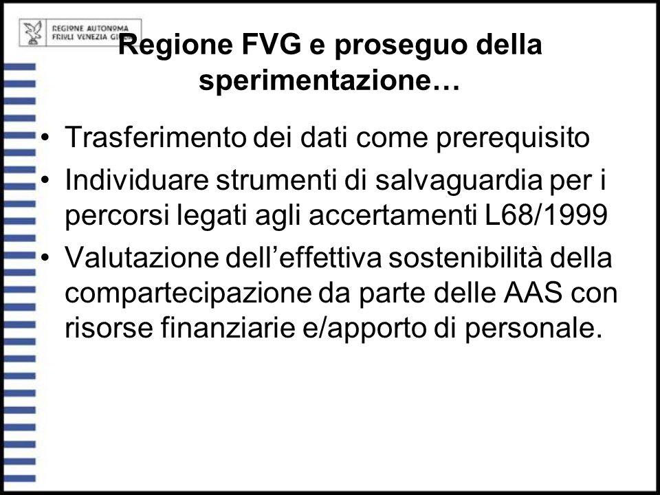 Regione FVG e proseguo della sperimentazione…