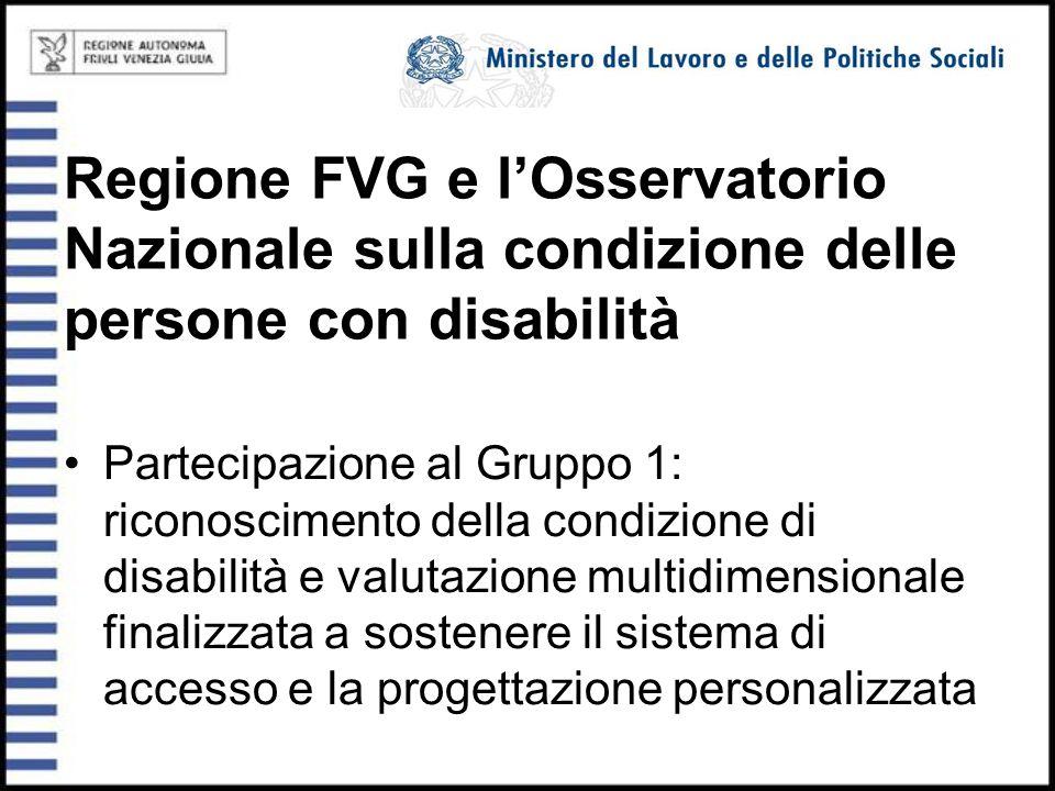 Regione FVG e l'Osservatorio Nazionale sulla condizione delle persone con disabilità