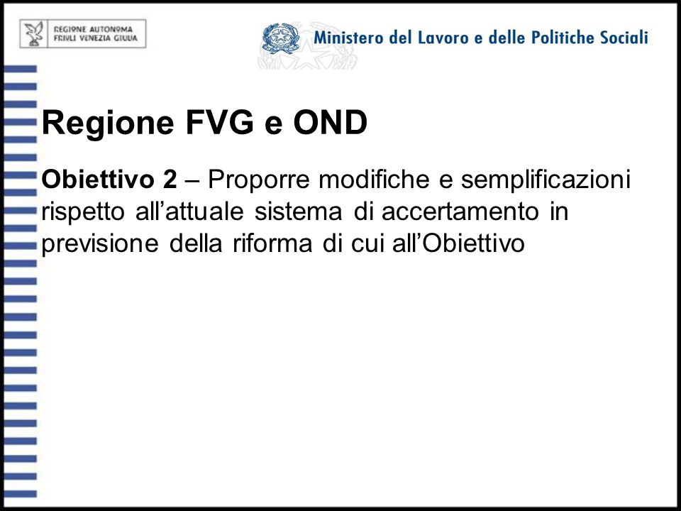Regione FVG e OND