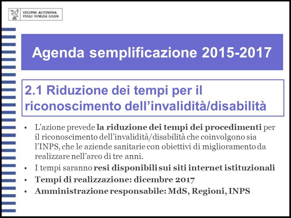 Agenda semplificazione 2015-2017