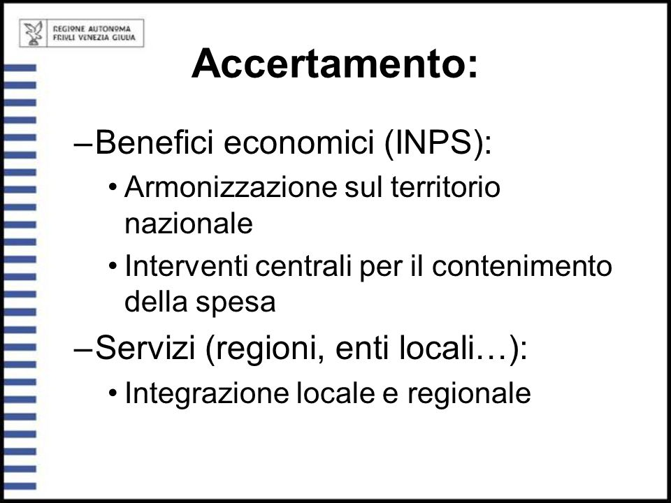 Accertamento: Benefici economici (INPS):