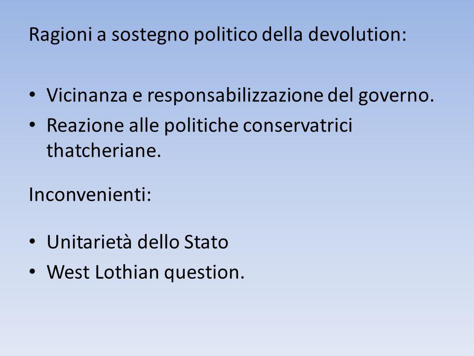Ragioni a sostegno politico della devolution: