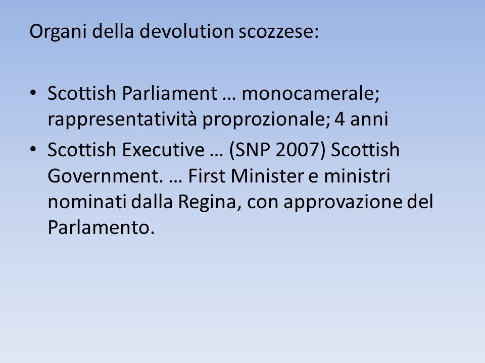 Organi della devolution scozzese: