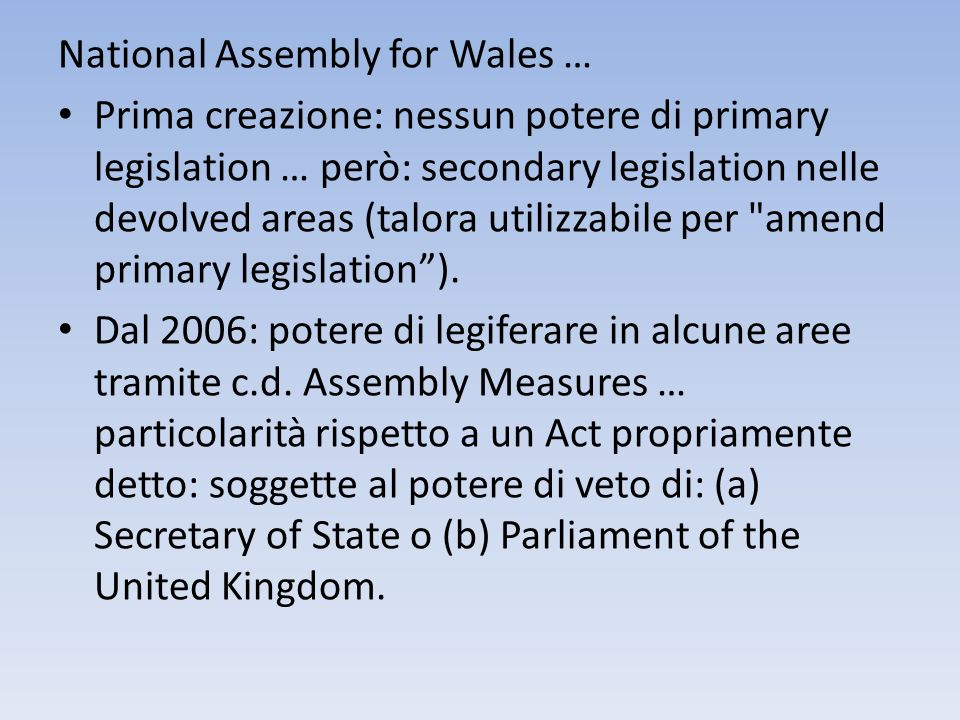 National Assembly for Wales …