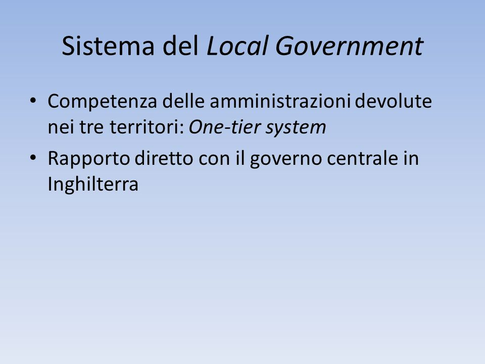 Sistema del Local Government