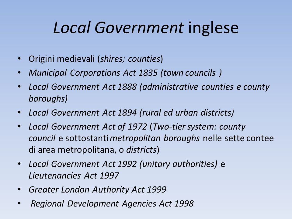 Local Government inglese