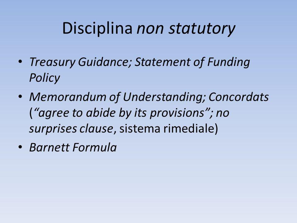 Disciplina non statutory