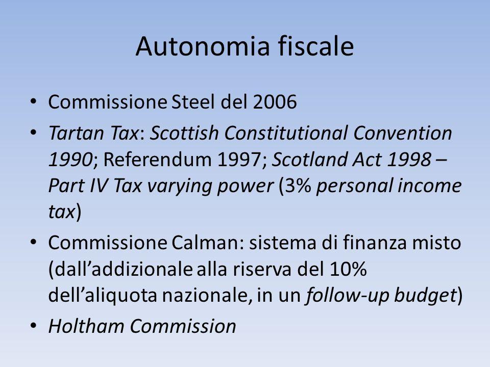Autonomia fiscale Commissione Steel del 2006