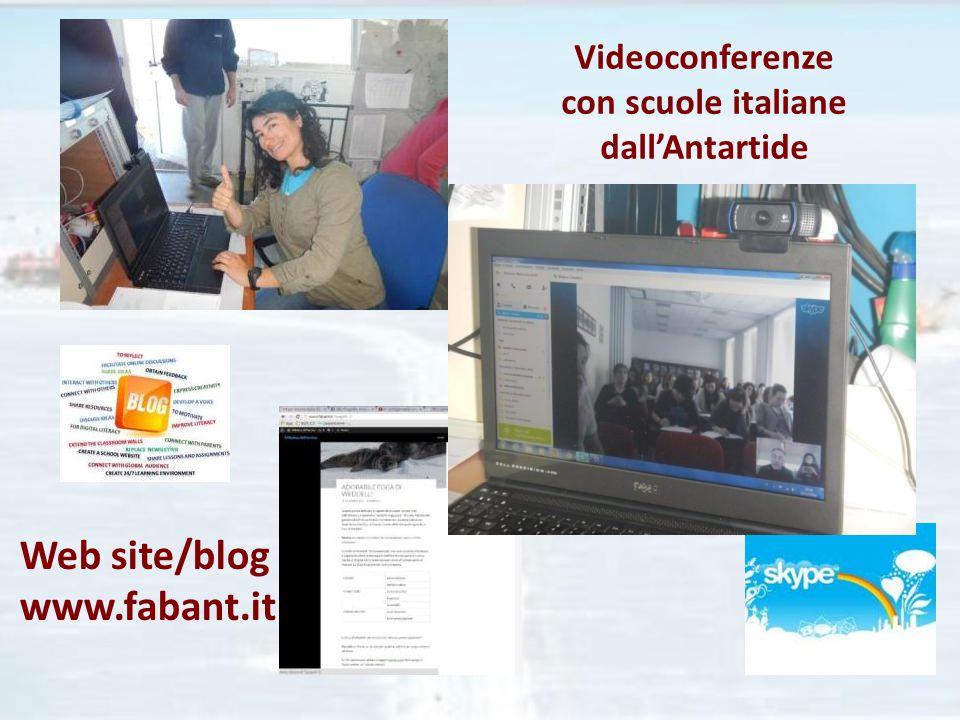 Videoconferenze con scuole italiane dall'Antartide