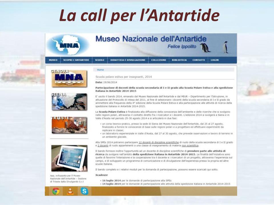 La call per l'Antartide