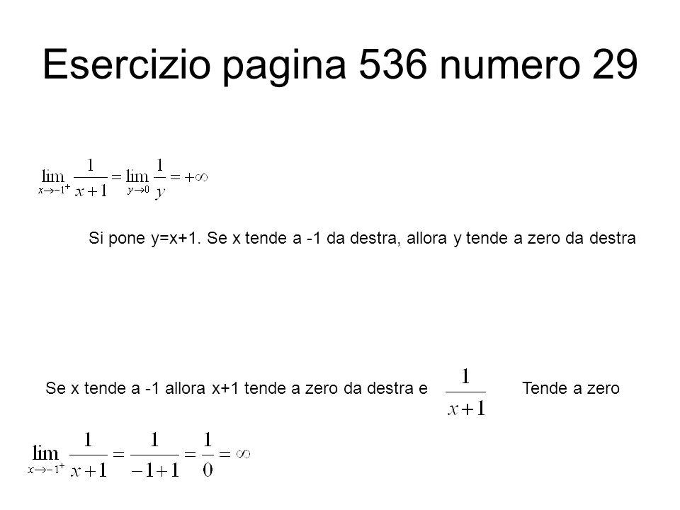 Esercizio pagina 536 numero 29
