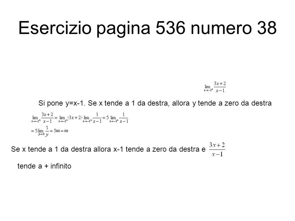 Esercizio pagina 536 numero 38