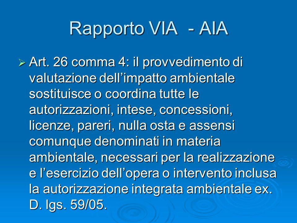 Rapporto VIA - AIA