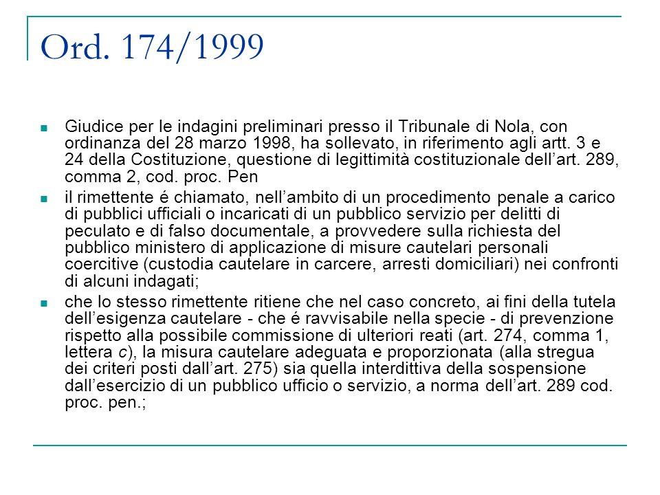 Ord. 174/1999