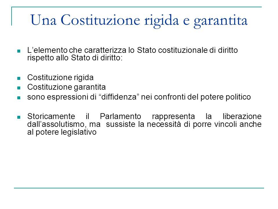 Una Costituzione rigida e garantita