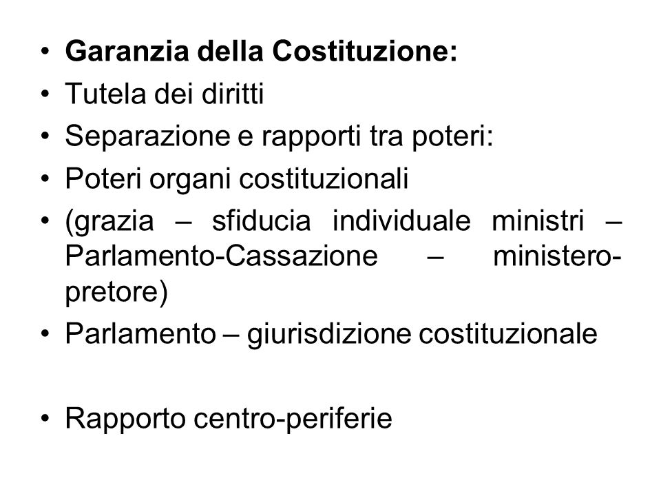 Garanzia della Costituzione: