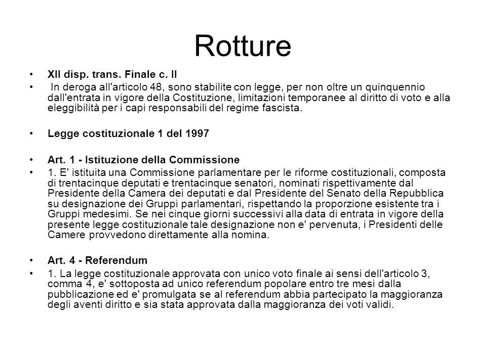 Rotture XII disp. trans. Finale c. II