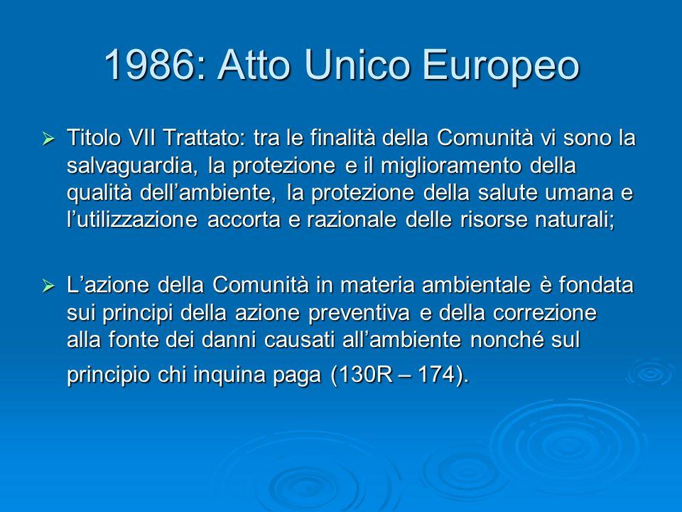 1986: Atto Unico Europeo