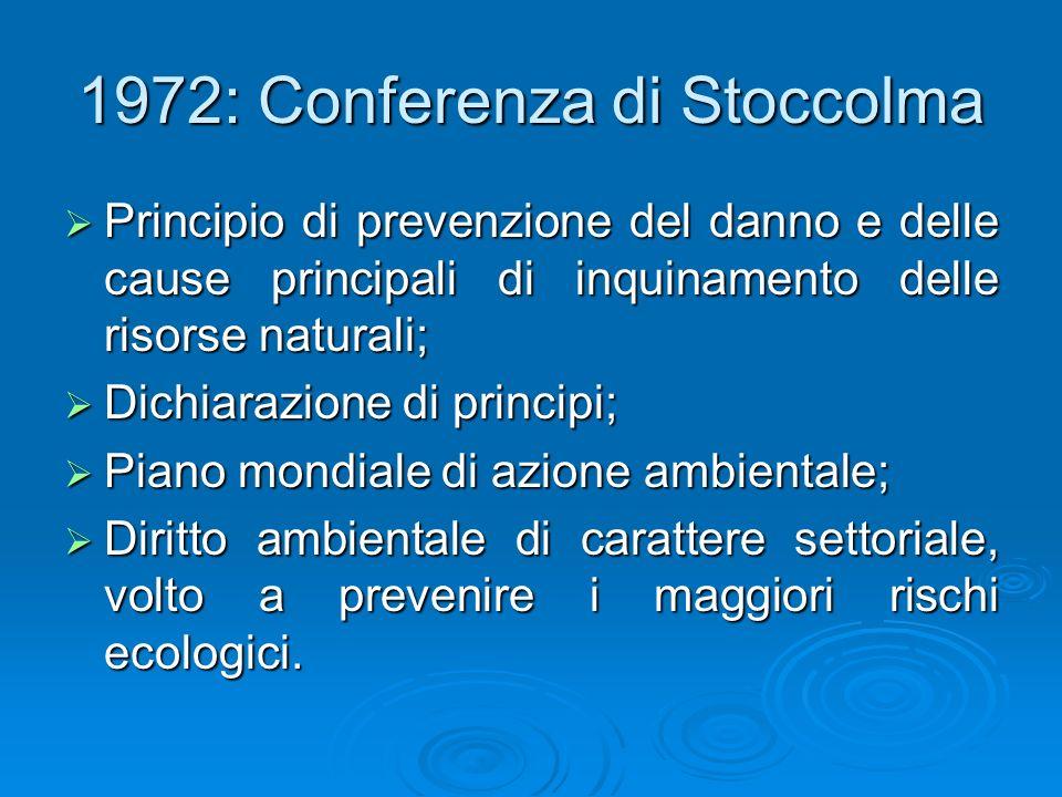 1972: Conferenza di Stoccolma
