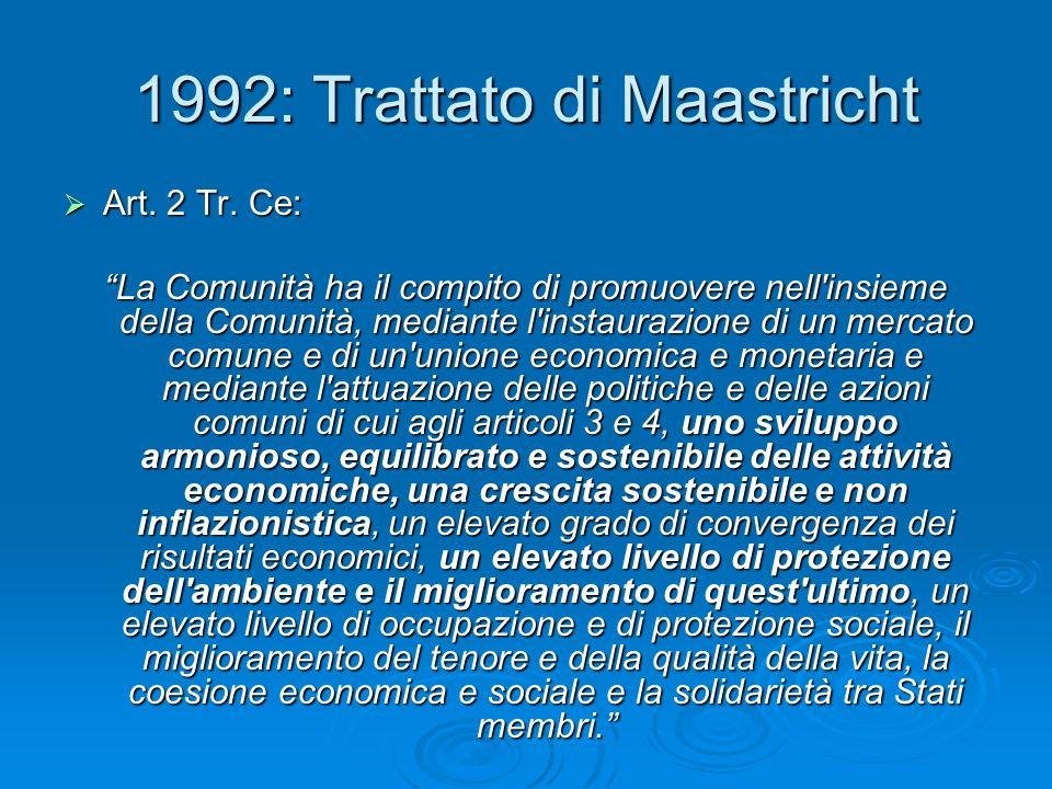 1992: Trattato di Maastricht