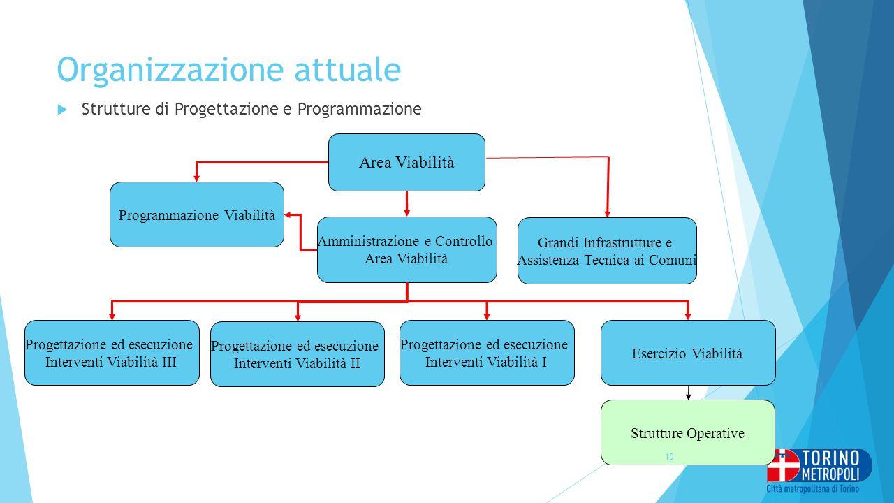 Organizzazione attuale