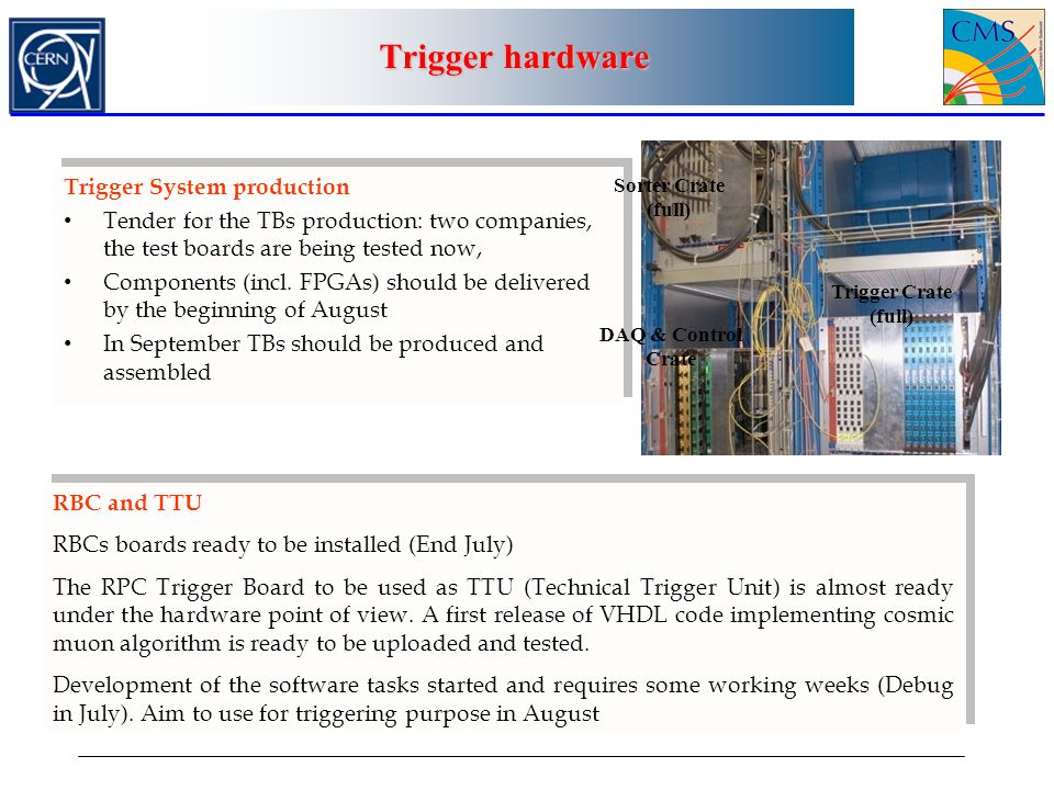 Trigger hardware Trigger System production
