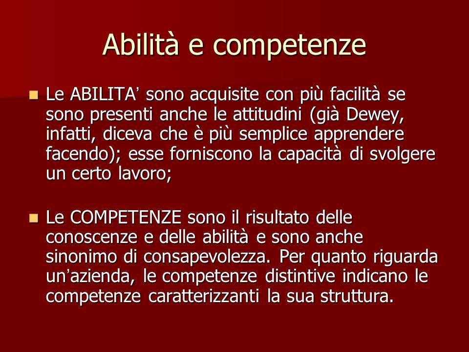 Abilità e competenze