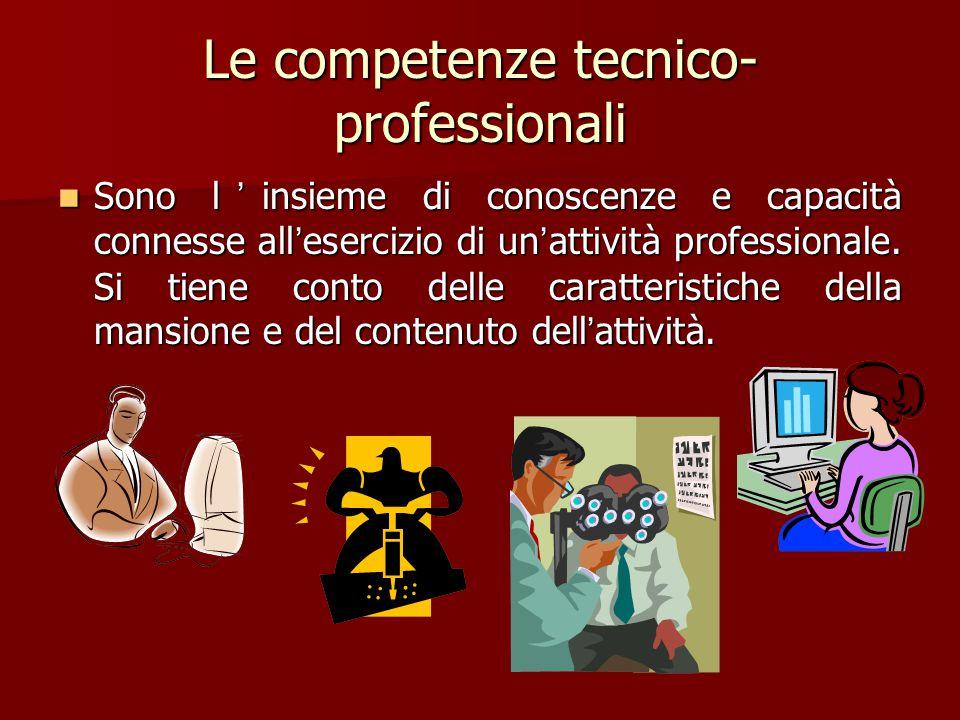 Le competenze tecnico-professionali