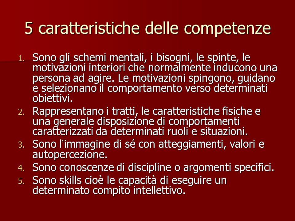 5 caratteristiche delle competenze